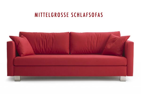 Mittelgroßes rotes Sofa